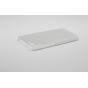 Фирменная задняя панель-крышка-накладка из тончайшего и прочного пластика для Doogee X5 / X5C / X5 Pro белая..