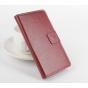 Фирменный чехол-книжка из качественной импортной кожи с мульти-подставкой застёжкой и визитницей для Доогее Х5..