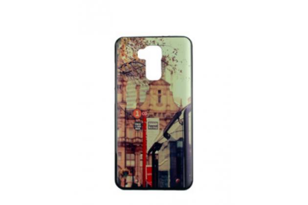 Фирменная необычная из силикона задняя панель-чехол-накладка для DOOGEE Y6 тематика Город