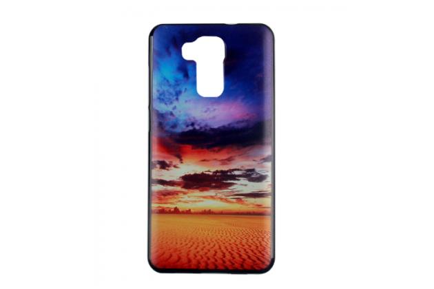 Фирменная необычная из силикона задняя панель-чехол-накладка для DOOGEE Y6 тематика Пустынный закат
