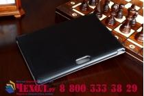 """Фирменный умный чехол самый тонкий в мире для планшета Dell Venue 10 Pro (5000/5055/7000) """"Il Sottile"""" черный кожаный"""