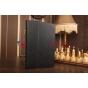 """Фирменный чехол обложка бизнес класса для Dell Venue 11 Pro с визитницей и держателем для руки черный натуральная кожа """"Prestige"""" Италия"""