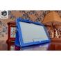 Фирменный чехол-футляр-книжка для Dell Venue 11 Pro (VPRO-8359./VP11-8267) синий кожаный..