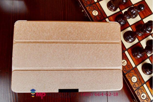 """Фирменный умный чехол-книжка самый тонкий в мире для Dell Venue 11 Pro """"Il Sottile"""" золотой пластиковый"""