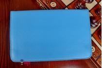 Чехол для Dell Venue 7 (VENU-7819/VENU-8090) поворотный роторный оборотный бирюзовый кожаный
