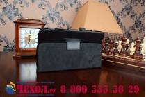 Фирменный оригинальный чехол обложка с подставкой для Dell Venue 7 3000 (3740/3741) черный кожаный