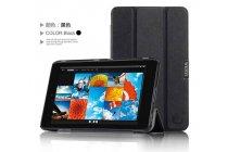 """Фирменный умный чехол самый тонкий в мире для планшета Dell Venue 7"""" Z2560 """"Il Sottile"""" черный кожаный"""