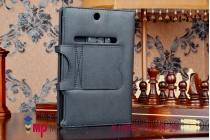 Фирменный чехол со съёмной Bluetooth-клавиатурой для Dell Venue 8 7840 черный кожаный + гарантия