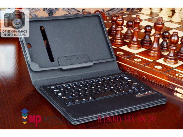 Фирменный чехол со съёмной Bluetooth-клавиатурой для Dell Venue 8 7840 черный кожаный + гарантия..