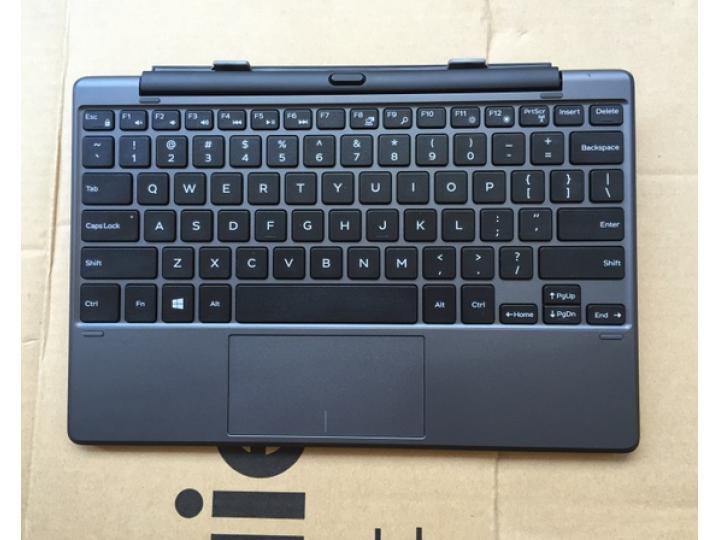 Фирменная оригинальная съемная клавиатура/док-станция для планшета Dell Venue 10 Pro (5000/5055/7000) витринны..