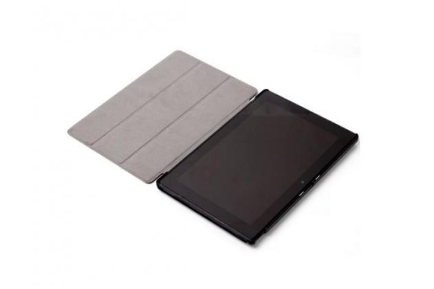"""Фирменный умный тонкий чехол для Dell Venue 10 Pro (5000/5055/7000)  """"Il Sottile"""" коричневый пластиковый"""