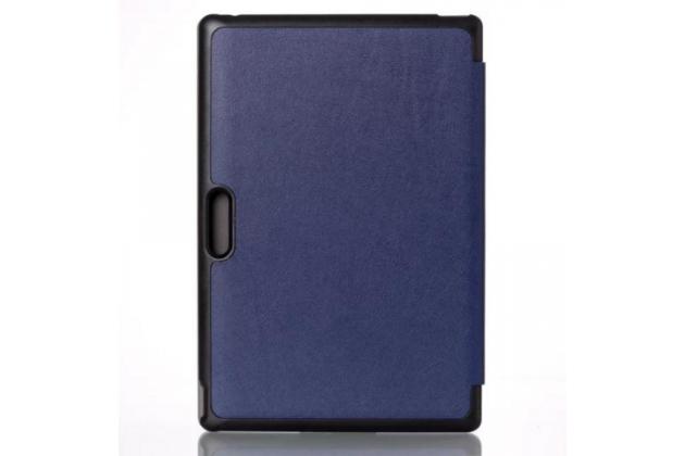 """Фирменный умный тонкий чехол для Dell Venue 10 Pro (5000/5055/7000)  """"Il Sottile"""" синий пластиковый"""
