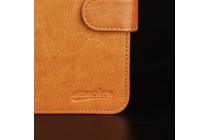 Из качественной импортной кожи с застёжкой и мультиподставкой для Digma Vox S502 3G Коричневый