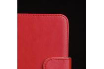 Из качественной импортной кожи с застёжкой и мультиподставкой для Digma Vox S502 3G Красный