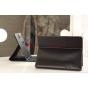 Чехол-обложка для Digma iDs10 черный кожаный