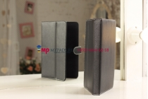 Чехол-обложка для Digma iDsD8 3G черный кожаный