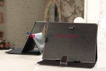 Чехол-обложка для Digma iDxD10 3G черный кожаный