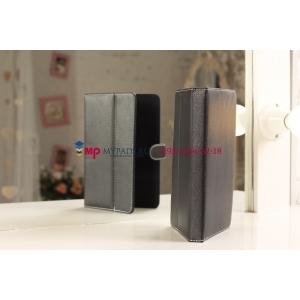 Чехол-обложка для Digma iDxD8 3G черный кожаный