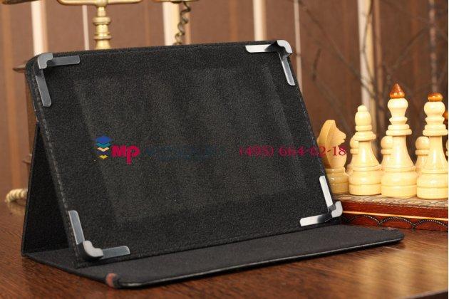 Чехол-обложка для Digma Eve 10.1 3G черный кожаный