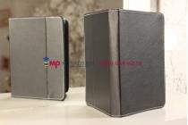 Чехол-обложка для Digma iDsQ10 черный кожаный
