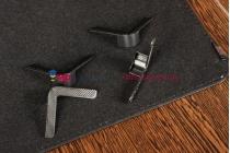 Чехол-обложка для Digma iDsQ7 черный кожаный
