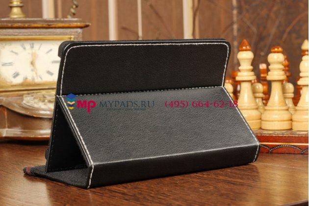 Чехол-обложка для Digma iDxD7 3Gчерный кожаный