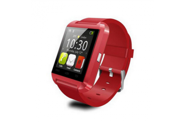 Фирменные оригинальные умные смарт-часы ECDREAM U8 в пластиковом корпусе с силиконовым ремешком