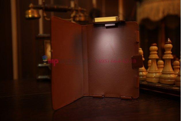 Чехол обложка с подстветкой/лампой для Ectaco jetBook кожаный. Цвет на выбор