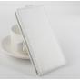 Фирменный оригинальный вертикальный откидной чехол-флип для Elephone S2 белый кожаный