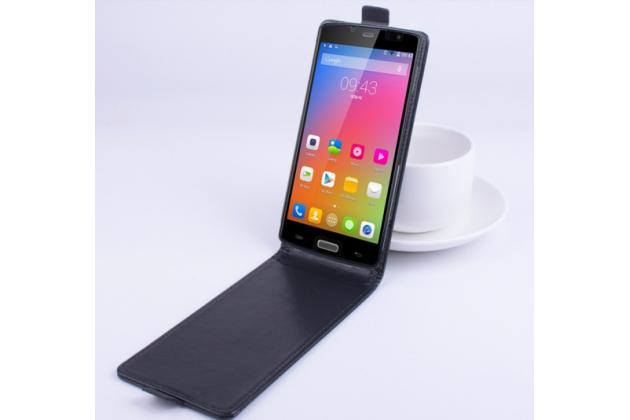 """Фирменный вертикальный откидной чехол-флип для Elephone ECOO E04 3 Gb"""" черный"""