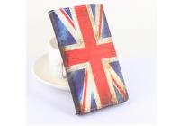 """Фирменный уникальный необычный чехол-книжка для Elephone M2 """"тематика Британский флаг"""""""