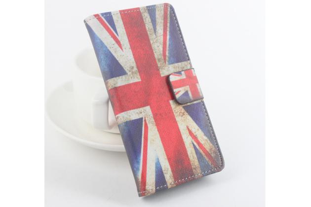"""Фирменный уникальный необычный чехол-книжка для Elephone M3 """"тематика Британский флаг"""""""