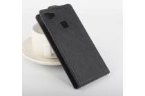"""Фирменный вертикальный откидной чехол-флип для Elephone M3"""" черный"""