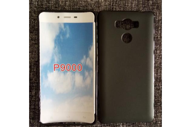 """Фирменная ультра-тонкая полимерная из мягкого качественного силикона задняя панель-чехол-накладка для Elephone P9000"""" черная"""