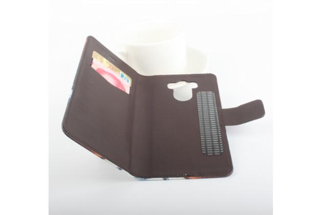 """Фирменный уникальный необычный чехол-книжка для Elephone P9000 """"тематика Британский флаг"""""""