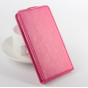 Фирменный оригинальный вертикальный откидной чехол-флип для Elephone S2 Plus розовый кожаный