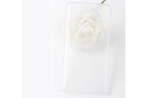 Фирменная задняя панель-крышка-накладка из тончайшего и прочного пластика для Elephone S3 белая