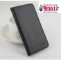 Фирменный чехол-книжка для Elephone Vowney с визитницей и мультиподставкой черный кожаный..