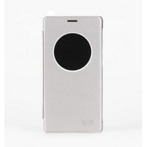 Фирменный чехол-книжка водоотталкивающий с мульти-подставкой на жёсткой пластиковой основе для Elephone Vowney серый