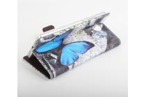 """Фирменный уникальный необычный чехол-книжка для Elephone Vowney """"тематика радужные Бабочки"""""""
