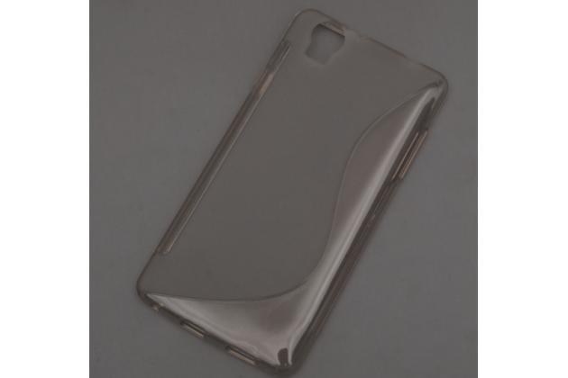 """Фирменная ультра-тонкая полимерная из мягкого качественного силикона задняя панель-чехол-накладка для Elephone G7"""" серая"""