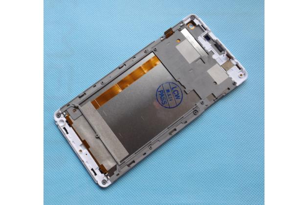 Фирменный LCD-ЖК-сенсорный дисплей-экран-стекло с тачскрином на телефон Elephone G7 белый + гарантия