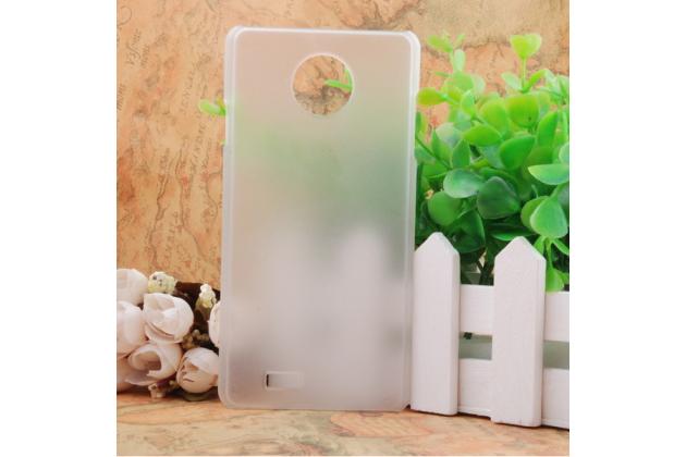 Фирменная задняя панель-крышка-накладка из тончайшего и прочного пластика для Elephone P3000s / P3000 белая
