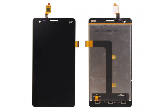Фирменный LCD-ЖК-сенсорный дисплей-экран-стекло с тачскрином на телефон Elephone P3000s / P3000 черный + гарантия