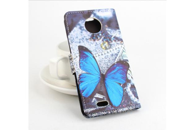 """Фирменный уникальный необычный чехол-книжка для Elephone P3000s / P3000 """"тематика радужные Бабочки"""""""
