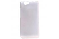 Фирменная задняя панель-крышка-накладка из тончайшего и прочного пластика для Elephone P5000 белая