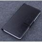 Фирменный чехол-книжка из качественной импортной кожи с мульти-подставкой застёжкой и визитницей для Элефон П6..