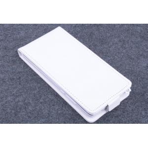 """Фирменный оригинальный вертикальный откидной чехол-флип для Elephone P6000 белый кожаный """"Prestige"""" Италия"""