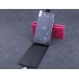 Фирменный оригинальный вертикальный откидной чехол-флип для Elephone P6000 черный из натуральной кожи