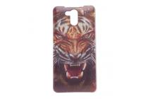 """Фирменная роскошная задняя панель-чехол-накладка с безумно красивым рисунком тигра на Elephone P7000"""""""